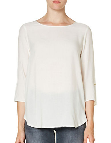 Vero Moda Boca Round Neck T-Shirt-WHITE-Large
