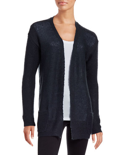 B. Young Manus Open Front Cardigan-NAVY BLUE-X-Small