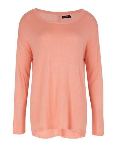 B. Young Olise Back Button Sweater-ORANGE-Large