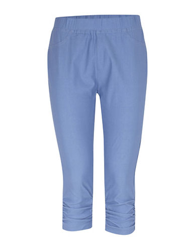 B. Young Keira Pull On Capri Legging-BLUE-Large