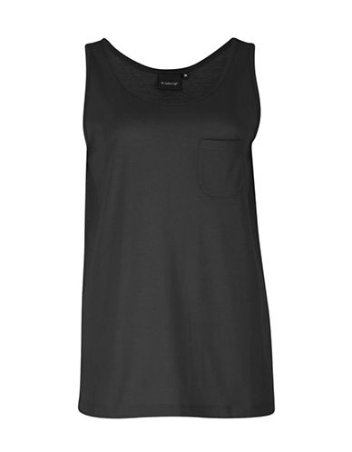 B. Young Layered Peplum Top-BLACK-Medium
