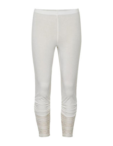 Cream Agnes Leggings-CHALK-Small