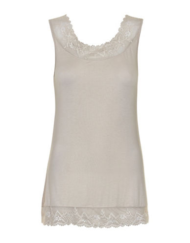 Cream Florence Lace Tank-GREY-Small 88718877_GREY_Small