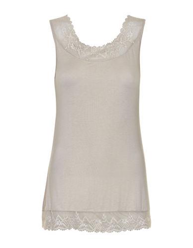 Cream Florence Lace Tank-GREY-Medium 88718878_GREY_Medium