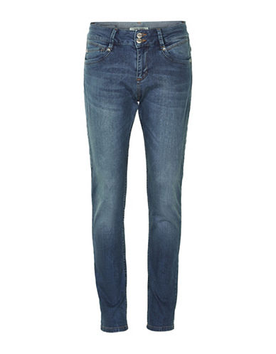 Denim Hunter Rose Curved Jeans-DARK WASH-25