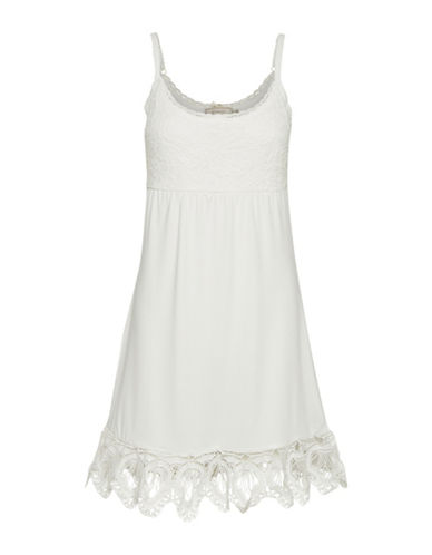 Cream Mitzy Slip Dress-WHITE-X-Small