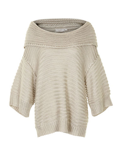 Cream Michelle Slouchy Knit Pullover-WHITE-Small 88718975_WHITE_Small