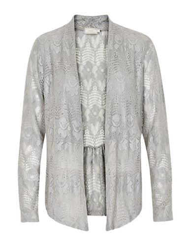 Cream Lianna Lace Cardigan-CLEAR GREY-X-Small