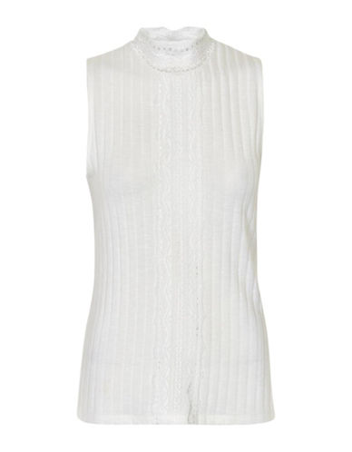 Cream Siba High-Neck Top-CHALK-Medium
