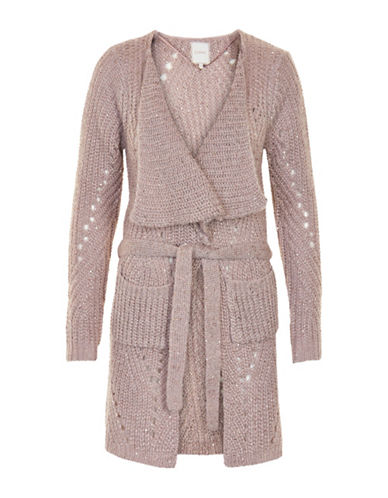 Cream Alba Knit Cardigan-PINK-Large