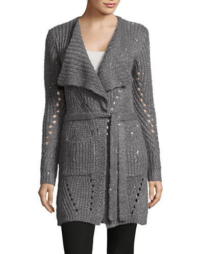 Cream Alba Knit Cardigan-GREY-Small