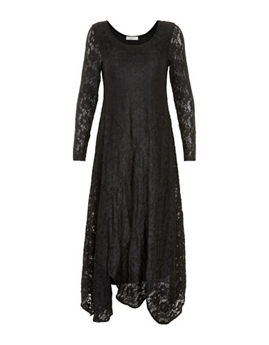 Cream Therese Lace Maxi Dress-BLACK-Medium