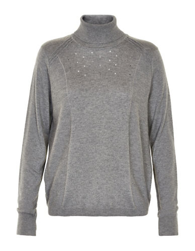 Cream Wool-Blend Sara Turtleneck-GREY-Large