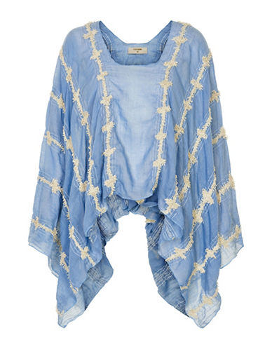 Cream Amalie Patterned Kimono-BLUE-One Size