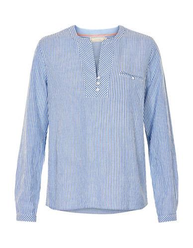 Cream Stella Striped Blouse-CLEAR BLUE-34