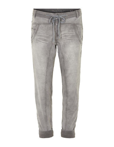 Cream Mia Denim Joggers-GREY-X-Large