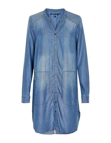 Cream Gilly Shirt Dress-BLUE-34