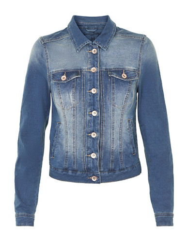 Cream Mia Knit Denim Jacket-BLUE-X-Large 88910675_BLUE_X-Large