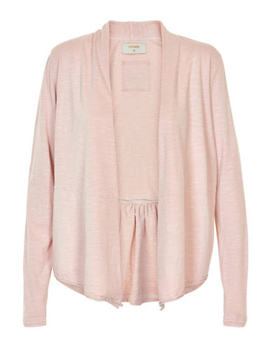 Cream Sunai Open-Front Cardigan-PINK-Small