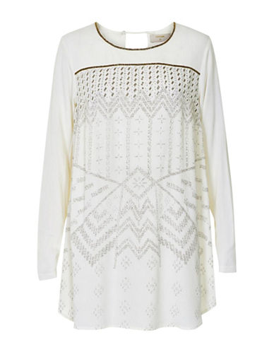 Cream Alda Tunic-WHITE-44