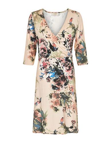 Cream Rosemary Printed Dress-PINK-Small