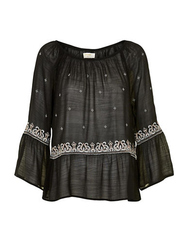 Cream Adona Blouse-BLACK-42