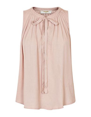 Cream Vera Sleeveless Bow Blouse-PINK-44