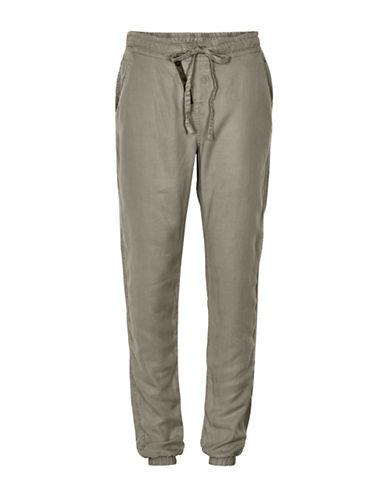 Cream Vibi Soft Jogger Pants-GREEN-40