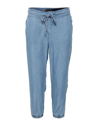 Cream Damaris Drawstring Pants-BLUE-38
