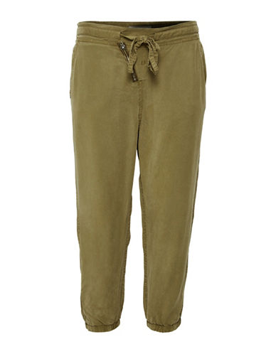Cream Damaris Drawstring Pants-GREEN-38