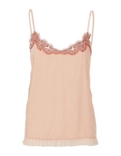 Cream Ekho Sleeveless Blouse-PINK-34