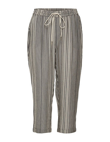 Cream Fina Striped Pants-BIRCH MULTI-36