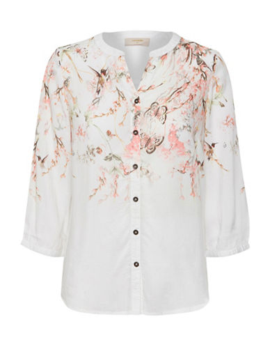 Cream Fiphi Printed Blouse-NATURAL-44