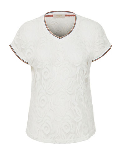 Cream Mombasa Cotton and Nylon Top-NATURAL-X-Large