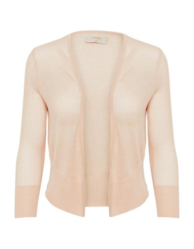 Cream Winnie Long-Sleeve Cardigan-BEIGE-X-Small
