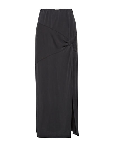 Cream Dakar Long Slit Skirt-BLACK-Medium
