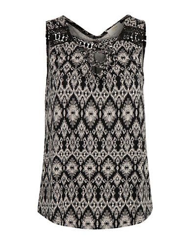 Cream Cameroun Printed Top-BLACK-X-Small