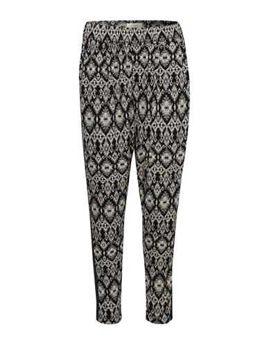 Cream Cameroun Pants-BLACK-Small