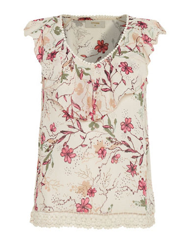 Cream Alala Floral Blouse-BEIGE-36