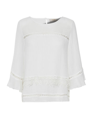 Cream Melayla Lace Trim Blouse-NATURAL-38