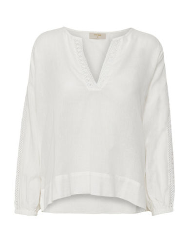 Cream Molly Embroidered Blouse-CHALK-40