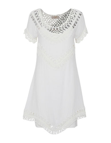Cream Ragnhild Mini Dress-CHALK-40