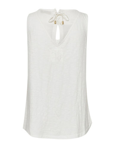 Cream Laura Tank Top-NATURAL-X-Small