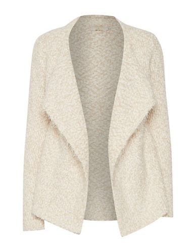 Cream Fiora Metallic Cardigan-SANDSHELL-Large