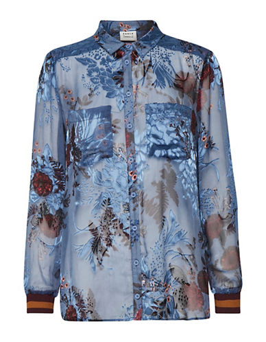 Karen By Simonsen Paint Button-Down Shirt-MULTI-36