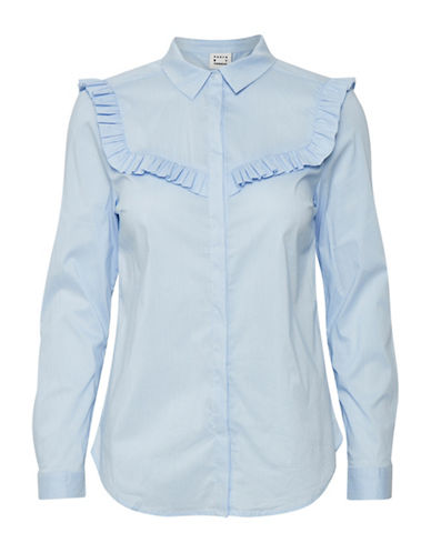 Karen By Simonsen Payroll Blouse-BLUE-44