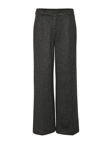 Karen By Simonsen Passport Wide-Leg Pants-GREY-34