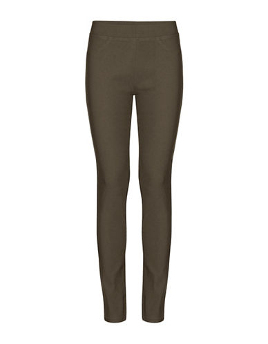 B. Young Keira Full-Length Leggings-GREEN-Small