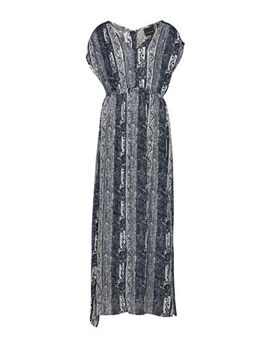 B. Young Jeana Maxi Print Dress-BLUE-34