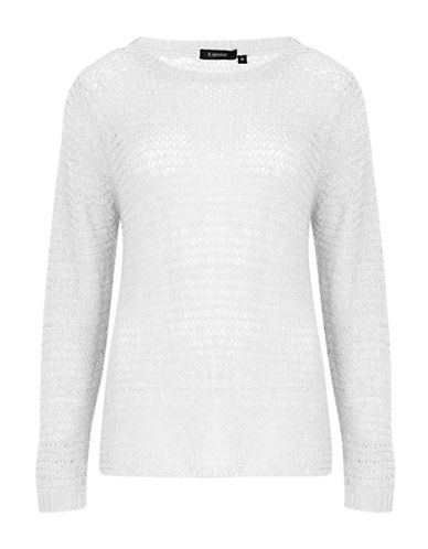 B. Young Open Weave Pullover-WHITE-Small 88349928_WHITE_Small